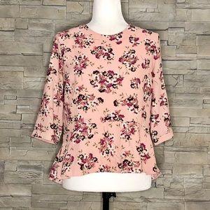 Atmosphere pink floral blouse